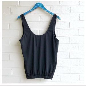 Fabletics Black Lucia 2-in-1 Active Tank Top